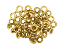Grommets on a white background Royalty Free Stock Photos