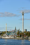 Grona Lund. Is amusement park in Stockholm, Sweden. 's roots are in 1880s, making it Sweden's oldest amusement park royalty free stock photo