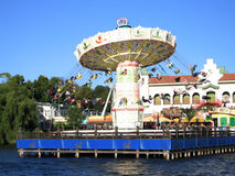 Grona Lund Carousel. In Stockholm, Sweden on a warm sunny day Stock Image