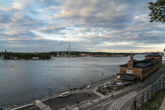 Grona lund på ön av Djurgarden, Stockholm, Sverige Royaltyfri Foto