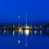 Grona Lund på natten Royaltyfri Bild