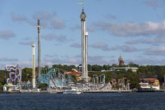 Grona Lundan amusement park - Stockholm - Sweden royalty free stock photos