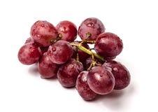 grona winogrona odosobniony czerwony biel Obraz Stock