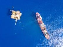 Grond Boring Boot een geotechnisch boor analoog het onderzoeksschip van kubieke meter royalty-vrije stock afbeeldingen