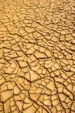Grond in droogte, grondtextuur en droge die modder, door ontbossing wordt veroorzaakt Royalty-vrije Stock Foto