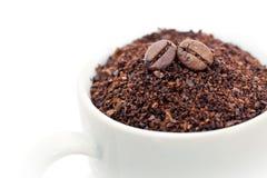 Grond en gehele koffiebonen Royalty-vrije Stock Foto