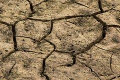Grond gebarsten achtergrond Land in droog seizoen beeld royalty-vrije stock afbeeldingen