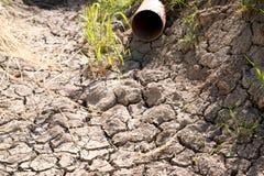 Grondaia asciutta senza acqua Fotografia Stock Libera da Diritti