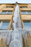 Grondaia con ghiaccio Fotografia Stock