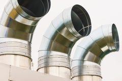 Grondaia del metallo, ventilatore, scarico dell'automobile fotografia stock libera da diritti