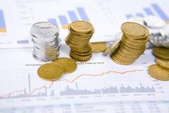 Grondement économique Photos stock