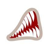 Grondement de bouche et de dents d'isolement mâchoires animales sur le fond blanc illustration de vecteur