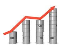 Grondement de marché du pétrole illustration libre de droits