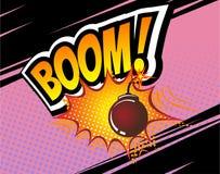 grondement Rétro bulle comique de la parole de vecteur, calibre de bandes dessinées de bande dessinée Maquette des éléments de co illustration de vecteur