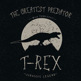 Grondements de T-Rex à la lune Image libre de droits