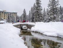 Gronden bij Chateau-Meer Louise in Banff Stock Afbeeldingen