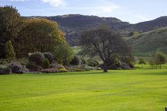 Gronden in Holyrood paleis-Edinburgh, Schotland royalty-vrije stock afbeelding