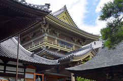 Gronden van Zenkoji-Tempel, Nagano Japan royalty-vrije stock afbeelding