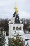 Grondgebied van de winterachtergrond van het gebied van Dmitrov het Kremlin Moskou royalty-vrije stock foto