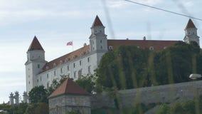 Grondmening van het Kasteel van Bratislava stock videobeelden