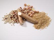 Grondstoffen van Acht Schat Congee stock afbeelding
