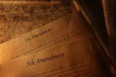 Grondwet en amendementen royalty-vrije stock foto's