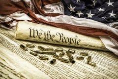 Grondwet en kogels royalty-vrije stock fotografie