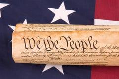 Grondwet op Vlag Royalty-vrije Stock Afbeelding