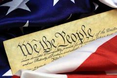 Grondwet van de Verenigde Staten - wij de Mensen Royalty-vrije Stock Foto's