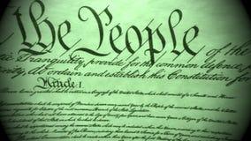 Grondwet van het Historische Document van Verenigde Staten - wij de Mensenrekening van Rechten stock footage