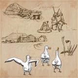 Gronelândia: Curso em todo o mundo Desenhos do vetor Fotos de Stock Royalty Free