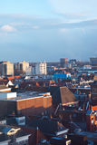 Groningen  cityscape. Groningen ,Netherlands cityscape with cloudy sky  seen from above Royalty Free Stock Photos