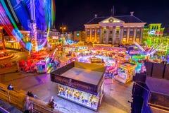 Groningen-Funfair Grote-markt stockbild