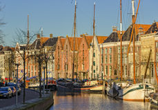 Groningen harbour. Grönnen, the capital of the province of Groningen is in the Netherlands Royalty Free Stock Images