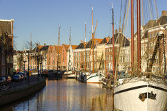 Groningen harbour. Grönnen, the capital of the province of Groningen is in the Netherlands Royalty Free Stock Photos