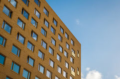 Groningen, Holland, 27 november 2016: Student building. Student building with blue sky Royalty Free Stock Images