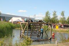 Last obstacle of the KardingeRun. Groningen Royalty Free Stock Photo