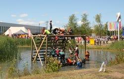 Last obstacle of the KardingeRun. Groningen Stock Image