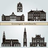 Groningen Landmarks Royalty Free Stock Photos
