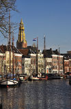 Groningen, the main canal and harbor. The Netherlands Stock Photo