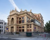 Theatre of dutch city groningen in the netherlands with blue sky. Groningen, netherlands, 8 oktober 2016: theatre of dutch city groningen in the netherlands with Stock Photo