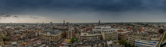 Groningen Panorama from Martini Tower Royalty Free Stock Photos