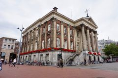 Old city hall of the Gementee Groningen city of Groningen royalty free stock image