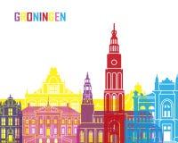 Groningen skyline pop Royalty Free Stock Photo
