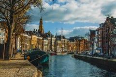 Groningen stad av Nederländerna Royaltyfri Fotografi