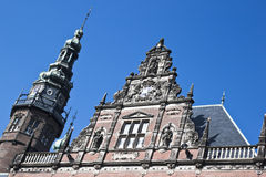 Groninger大学,荷兰门面  免版税库存照片