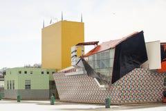 Groninger museum i Nederländerna Arkivbild
