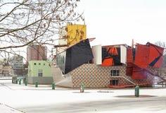 Groningermuseum in de sneeuw Stock Fotografie