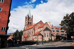 Gronland-Kirche, Oslo, NORWEGEN stockfotografie
