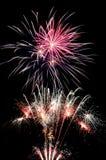 Grono kolorowi fajerwerki - dzień niepodległości Obraz Stock